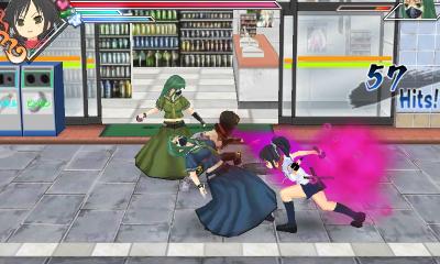 Senran Kagura Burst gameplay, yep