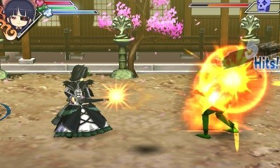 Senran Kagura Burst loli gothic lolita maid with guns, as you asked