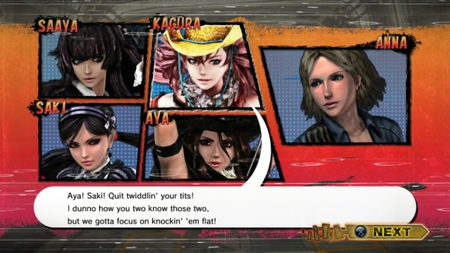 Onechanbara ZII Chaos that's some writing right there