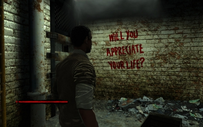 Saw The Videogame x360 writing on the wall