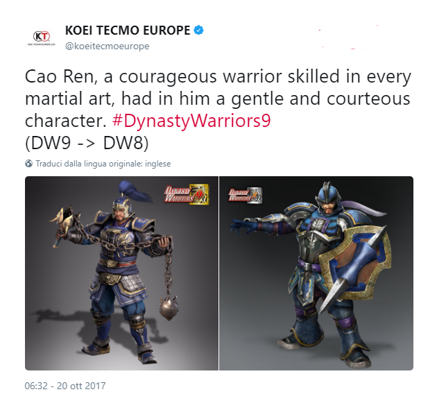 DW 8 DW9 Cao Ren weapon changes
