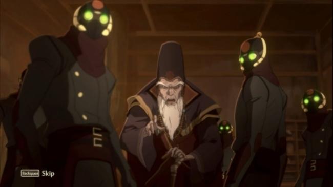 The Legend Of Korra PS3 animated cutscenes which i didn't screenshoot myself