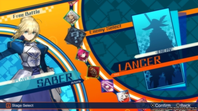 Fate Extella roster