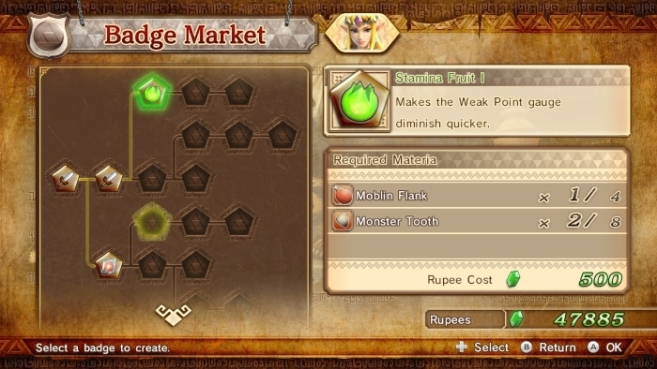Hyrule Warriors WII U crafting and upgrades