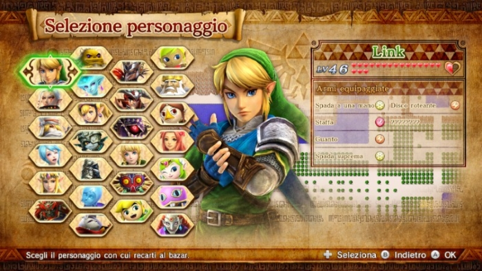Hyrule Warriors WIIU full roster (with all DLC)