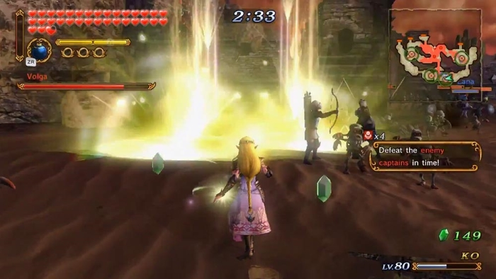 Hyrule Warriors WIIU gameplay